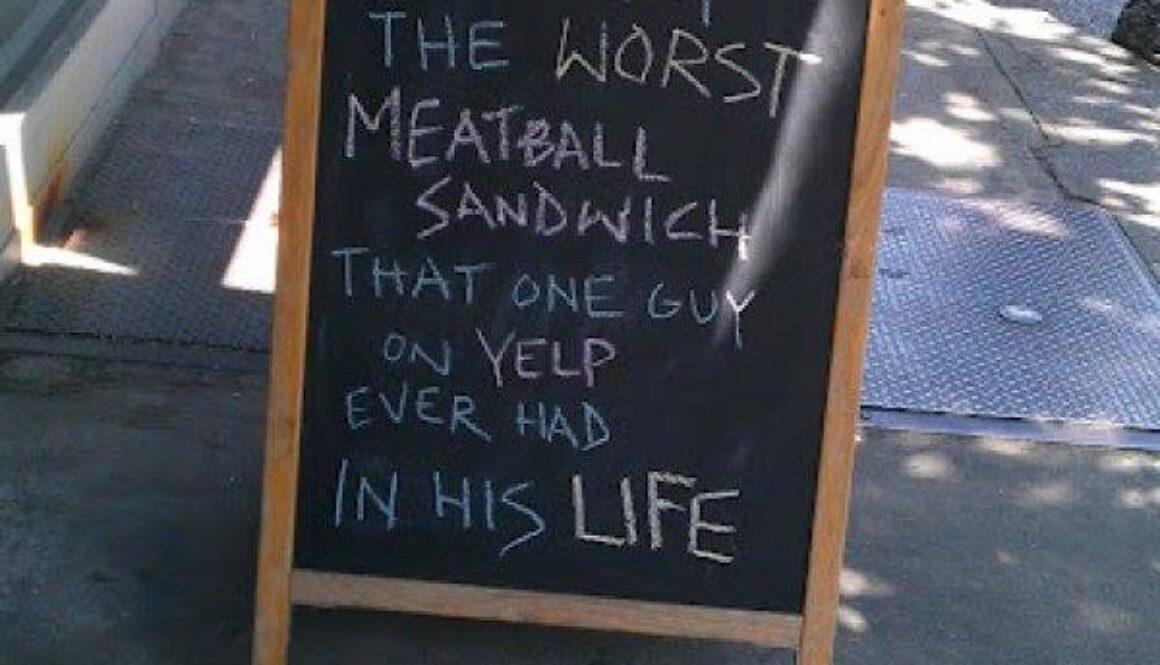 Meatball sign
